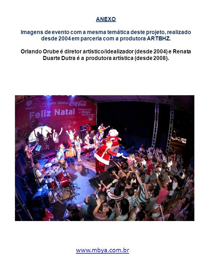 ANEXO Imagens de evento com a mesma temática deste projeto, realizado desde 2004 em parceria com a produtora ARTBHZ. Orlando Orube é diretor artístico/idealizador (desde 2004) e Renata Duarte Dutra é a produtora artística (desde 2008).