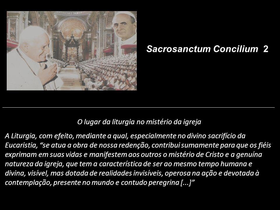 O lugar da liturgia no mistério da igreja