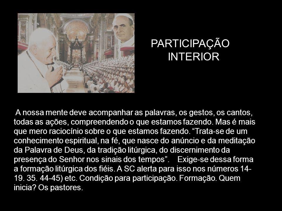 PARTICIPAÇÃO INTERIOR