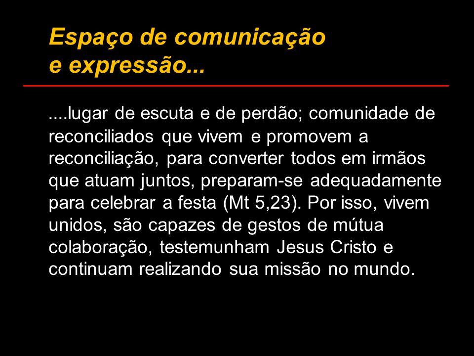 Espaço de comunicação e expressão...