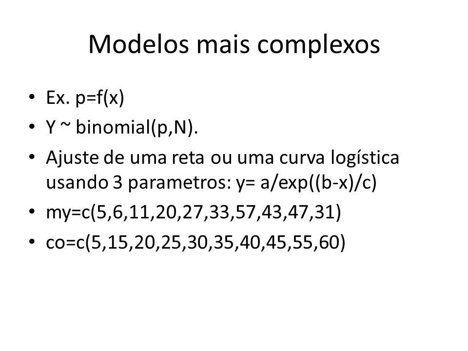 Modelos mais complexos