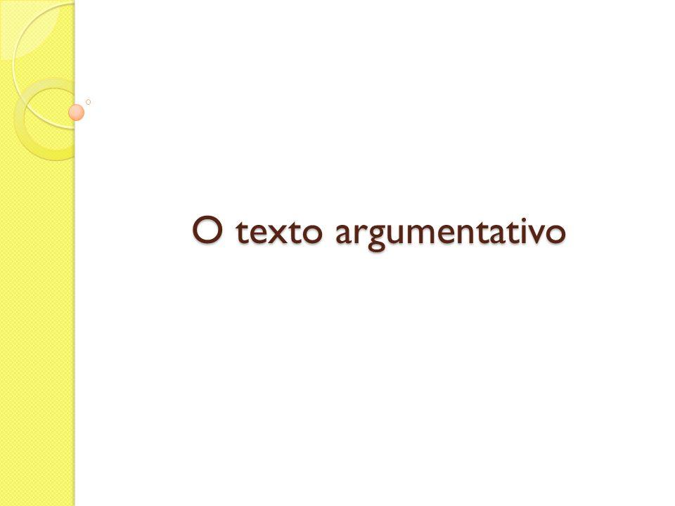 O texto argumentativo