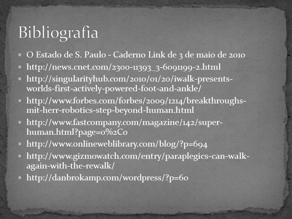 Bibliografia O Estado de S. Paulo - Caderno Link de 3 de maio de 2010