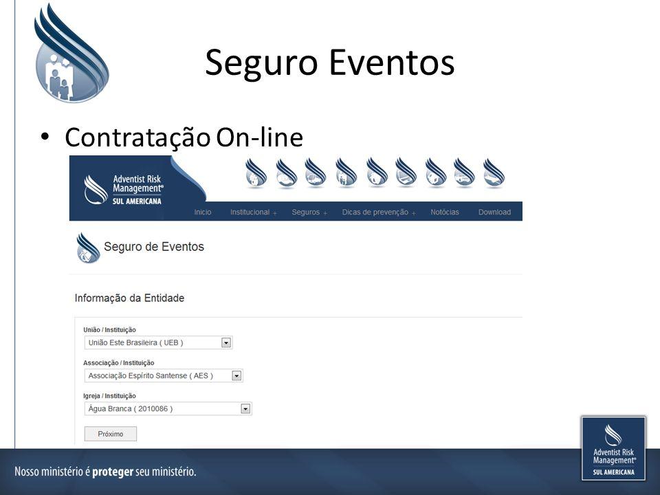 Seguro Eventos Contratação On-line