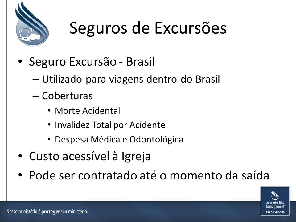 Seguros de Excursões Seguro Excursão - Brasil Custo acessível à Igreja