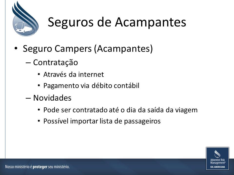 Seguros de Acampantes Seguro Campers (Acampantes) Contratação