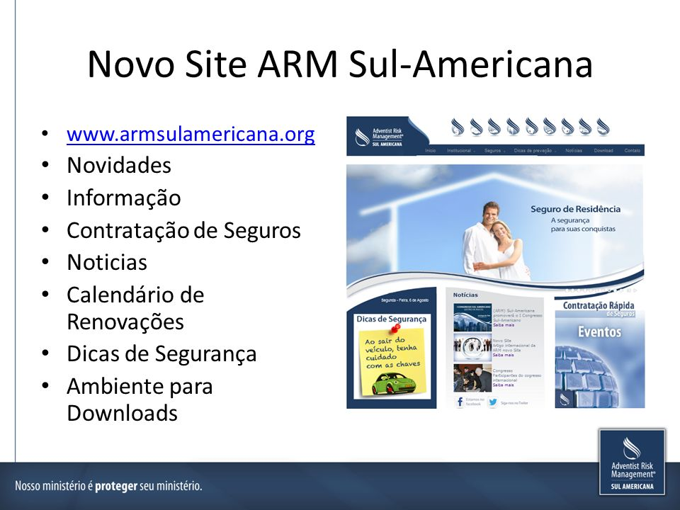 Novo Site ARM Sul-Americana