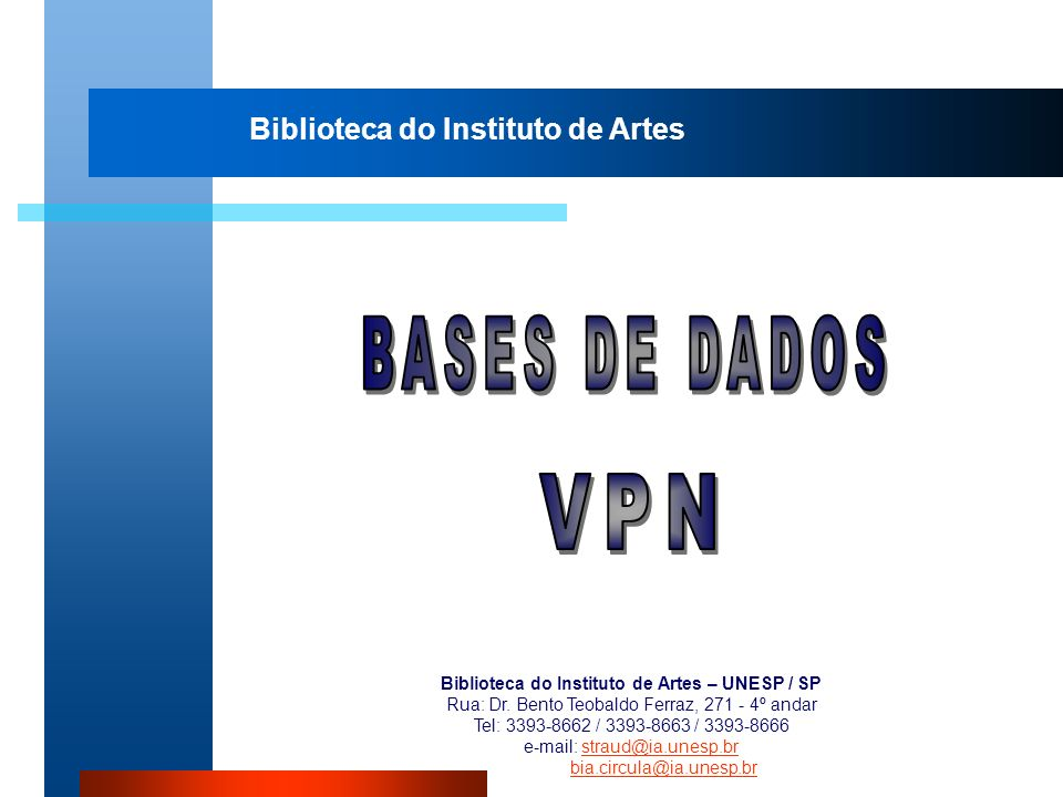 BASES DE DADOS VPN Biblioteca do Instituto de Artes
