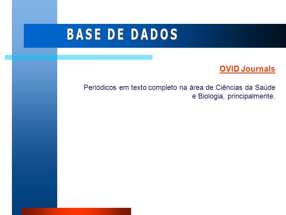 BASE DE DADOS OVID Journals