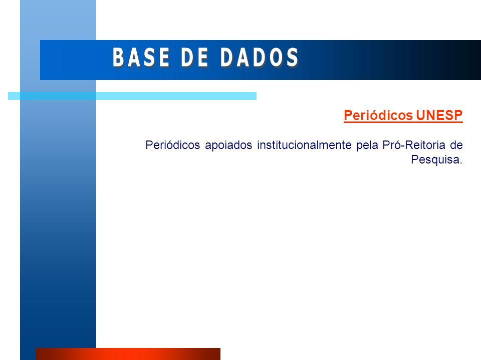 BASE DE DADOS Periódicos UNESP
