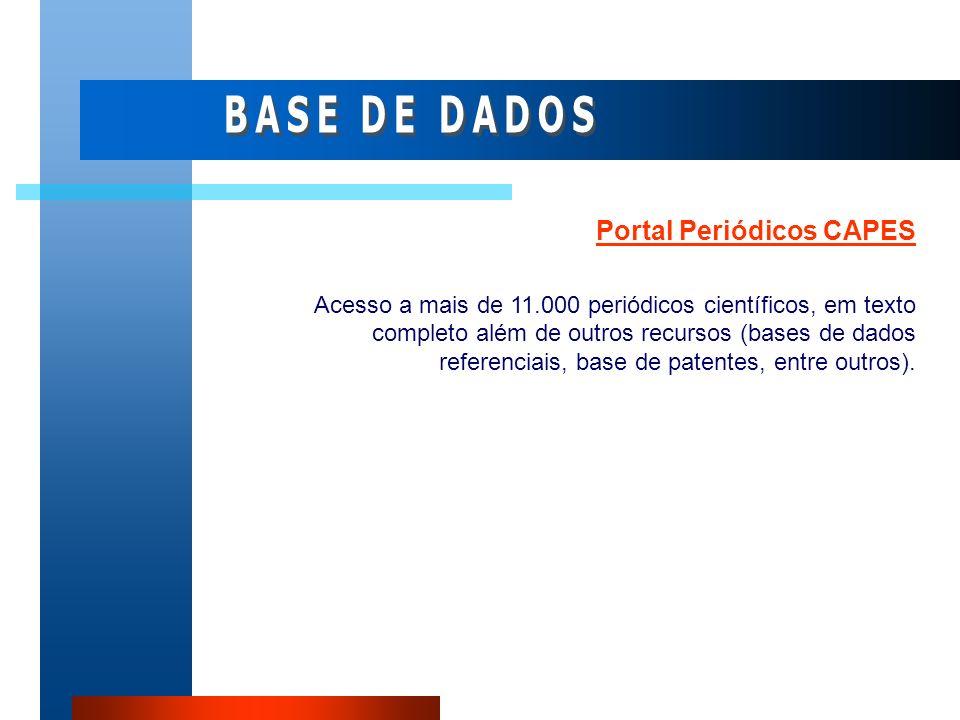BASE DE DADOS Portal Periódicos CAPES