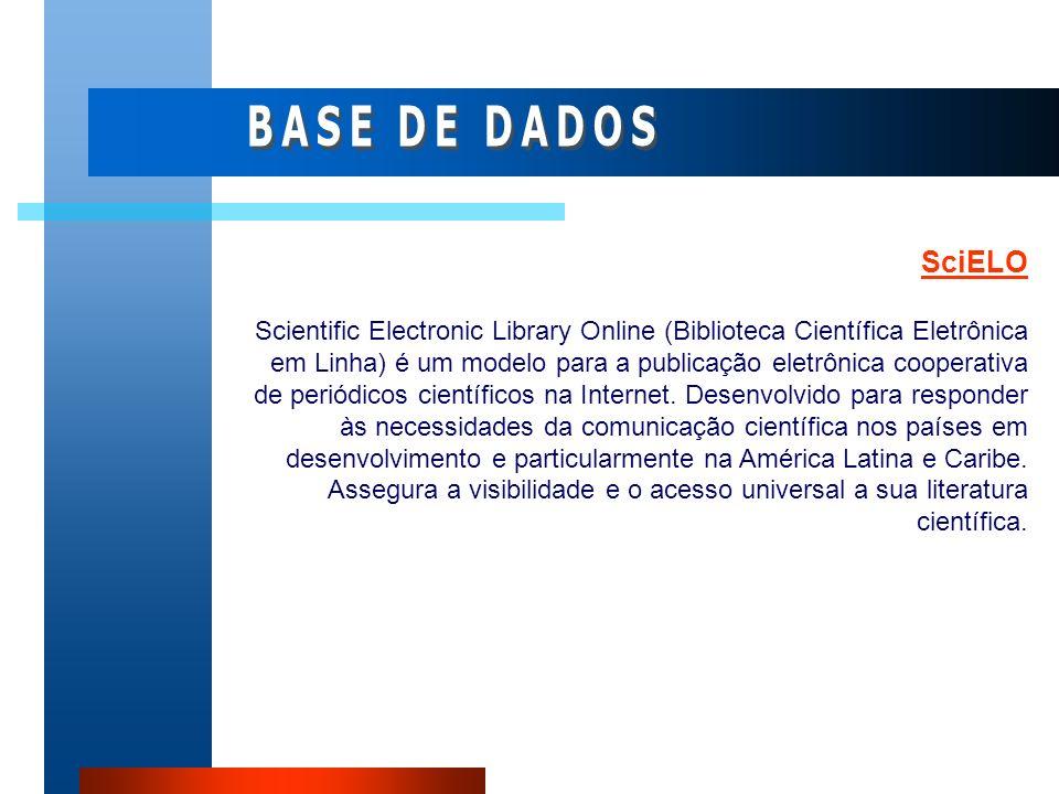 BASE DE DADOS SciELO.