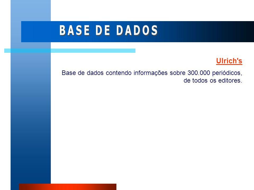 BASE DE DADOS Ulrich s.