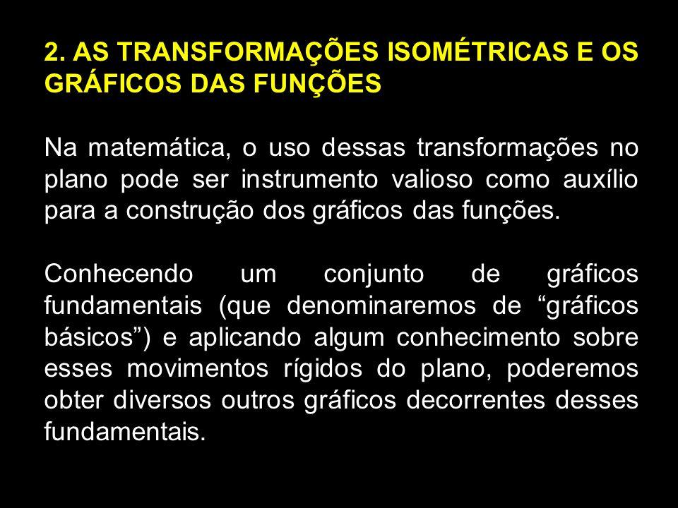 2. AS TRANSFORMAÇÕES ISOMÉTRICAS E OS GRÁFICOS DAS FUNÇÕES