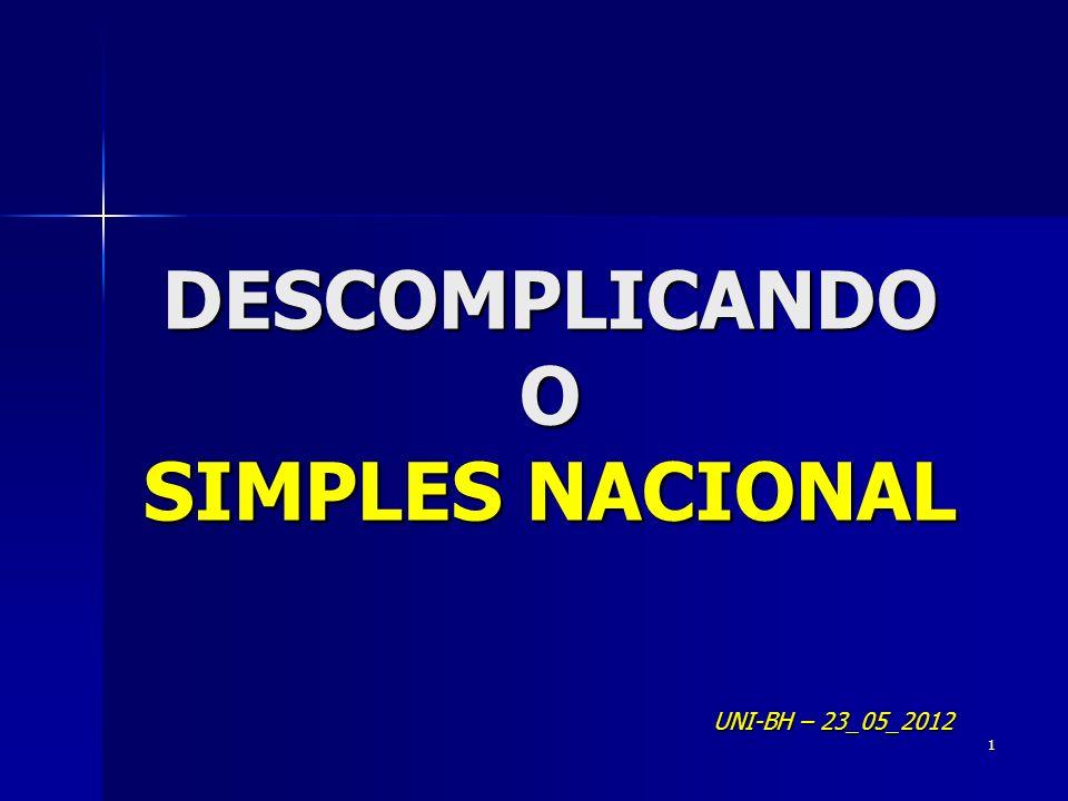 DESCOMPLICANDO O SIMPLES NACIONAL