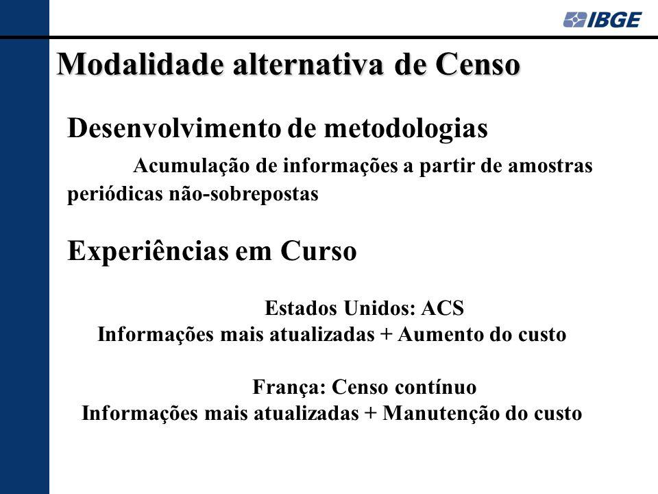 Modalidade alternativa de Censo
