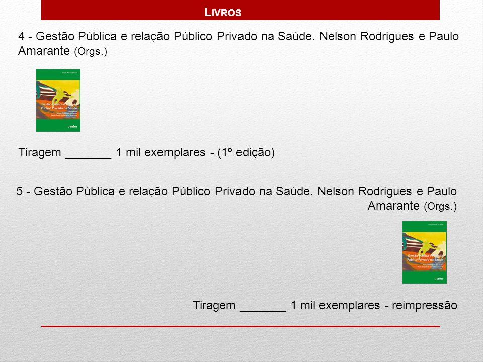 Livros 4 - Gestão Pública e relação Público Privado na Saúde. Nelson Rodrigues e Paulo Amarante (Orgs.)