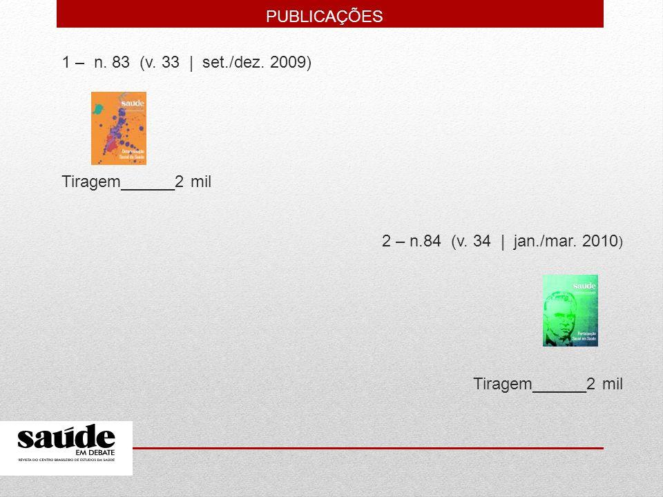 1 – n. 83 (v. 33 | set./dez. 2009) Tiragem______2 mil