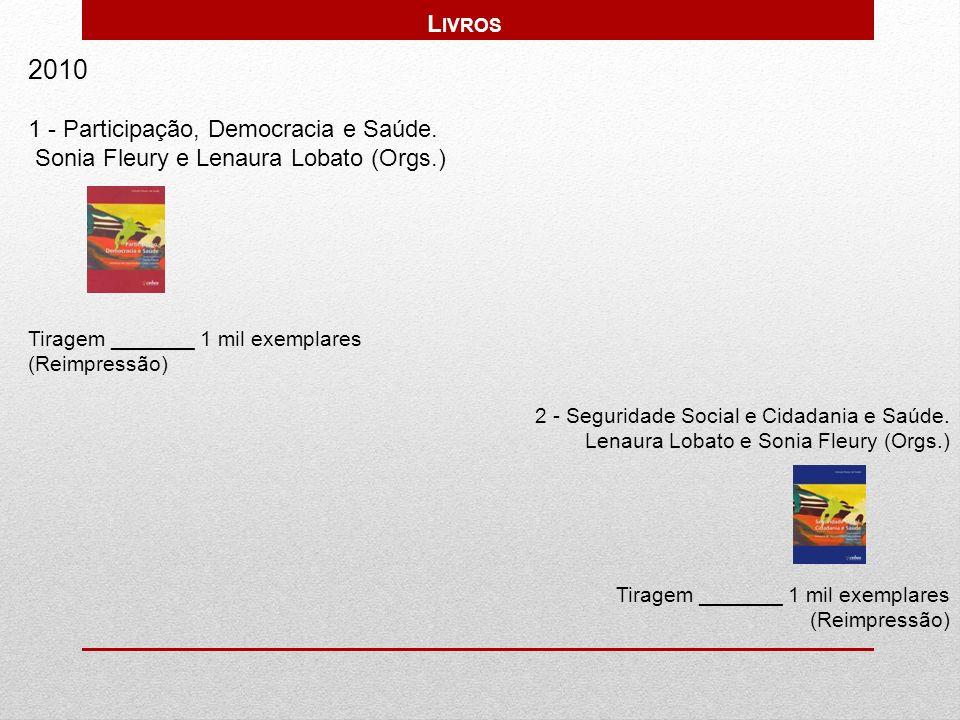 2010 Livros 1 - Participação, Democracia e Saúde.