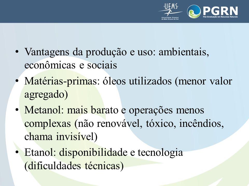 Vantagens da produção e uso: ambientais, econômicas e sociais