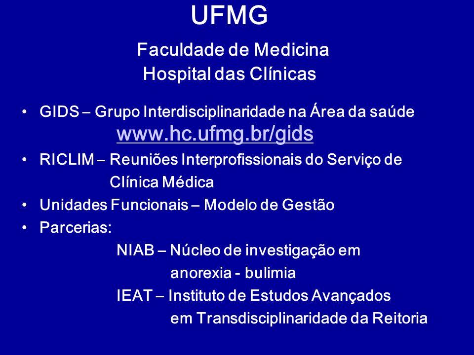 UFMG Faculdade de Medicina Hospital das Clínicas