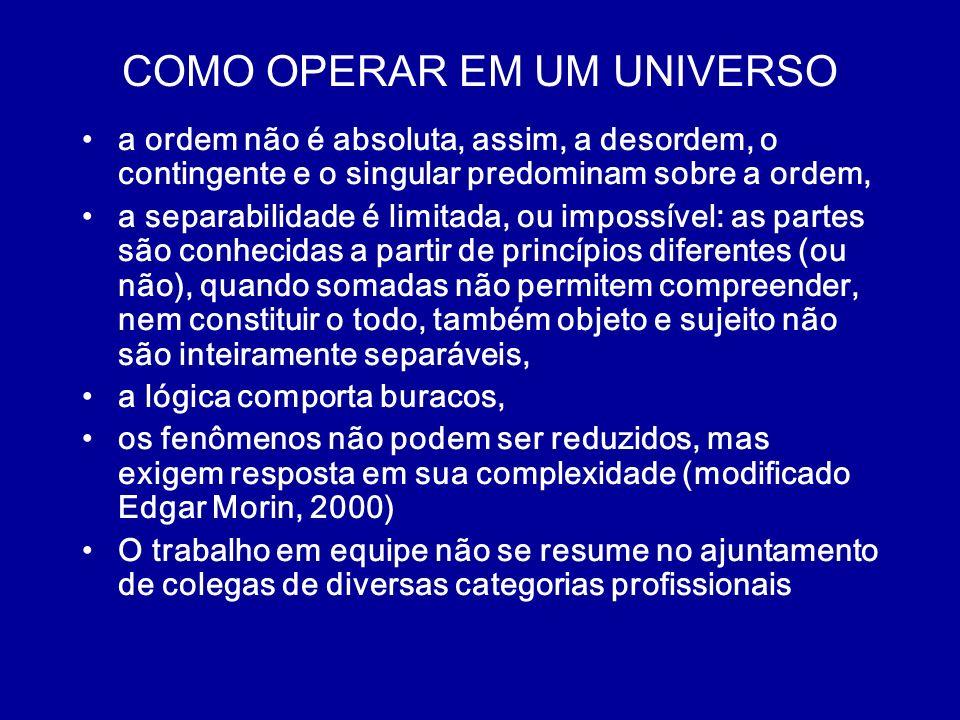 COMO OPERAR EM UM UNIVERSO