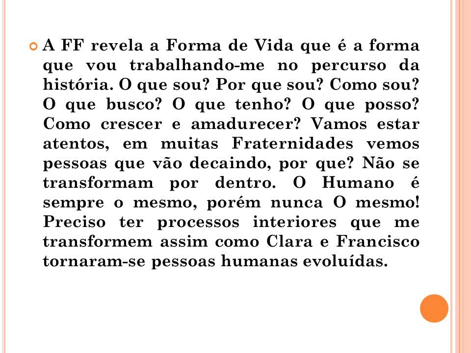 A FF revela a Forma de Vida que é a forma que vou trabalhando-me no percurso da história.