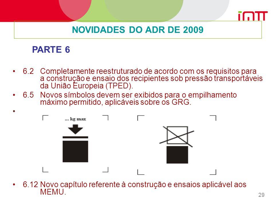 NOVIDADES DO ADR DE 2009 PARTE 6