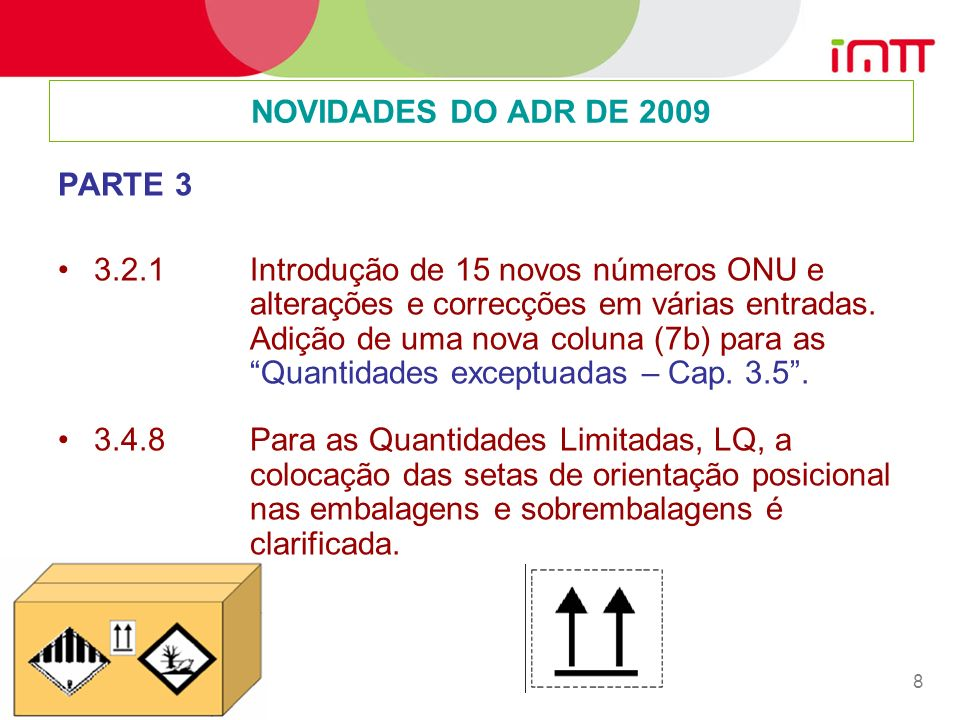 NOVIDADES DO ADR DE 2009 PARTE 3.