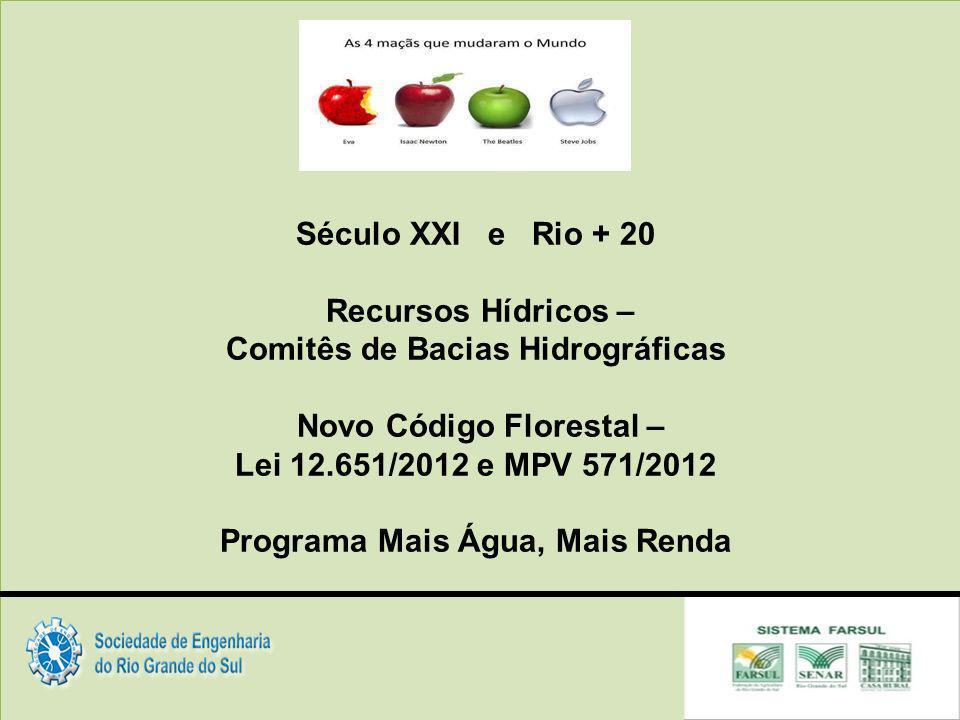 Comitês de Bacias Hidrográficas Novo Código Florestal –
