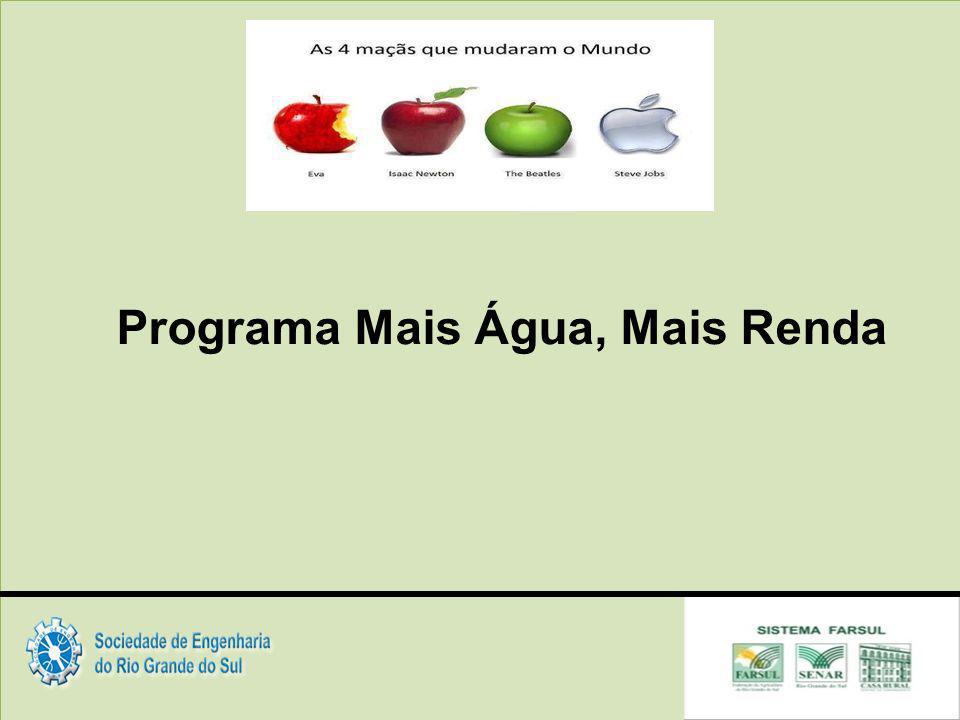 Programa Mais Água, Mais Renda