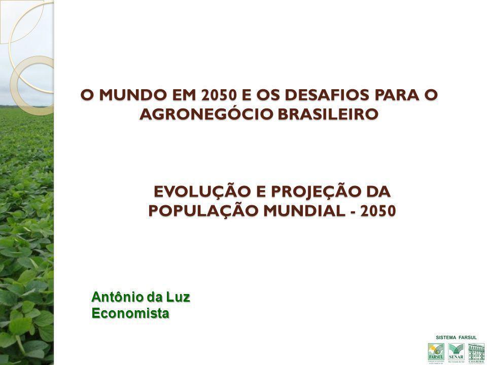 O MUNDO EM 2050 E OS DESAFIOS PARA O AGRONEGÓCIO BRASILEIRO