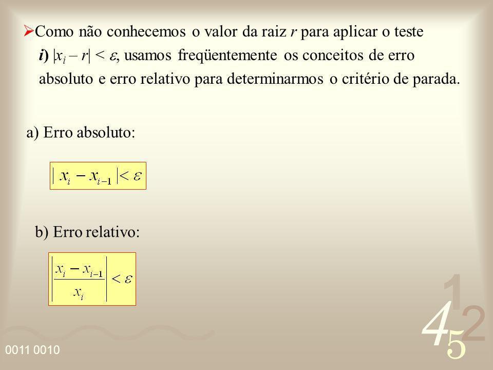 Como não conhecemos o valor da raiz r para aplicar o teste