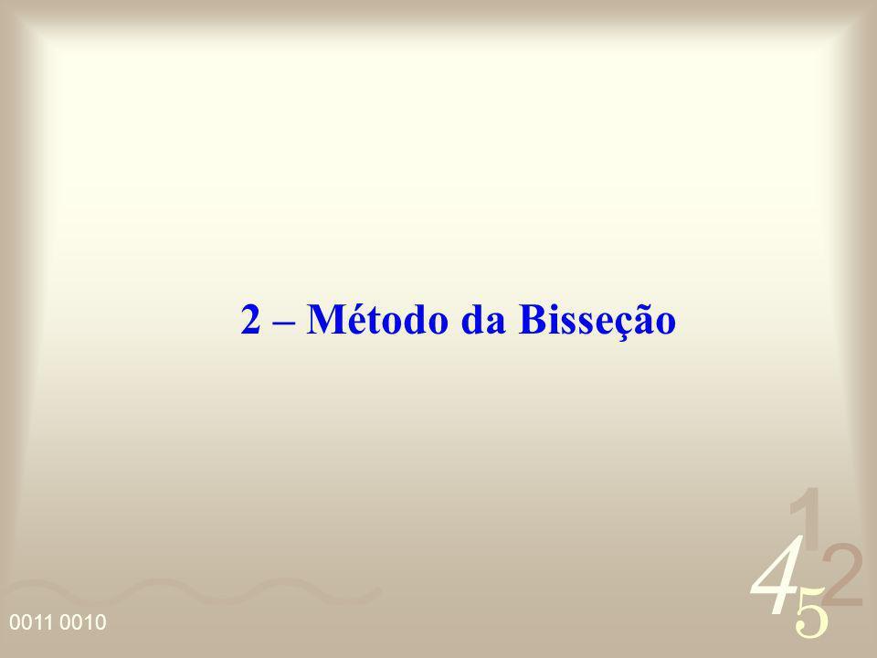 2 – Método da Bisseção