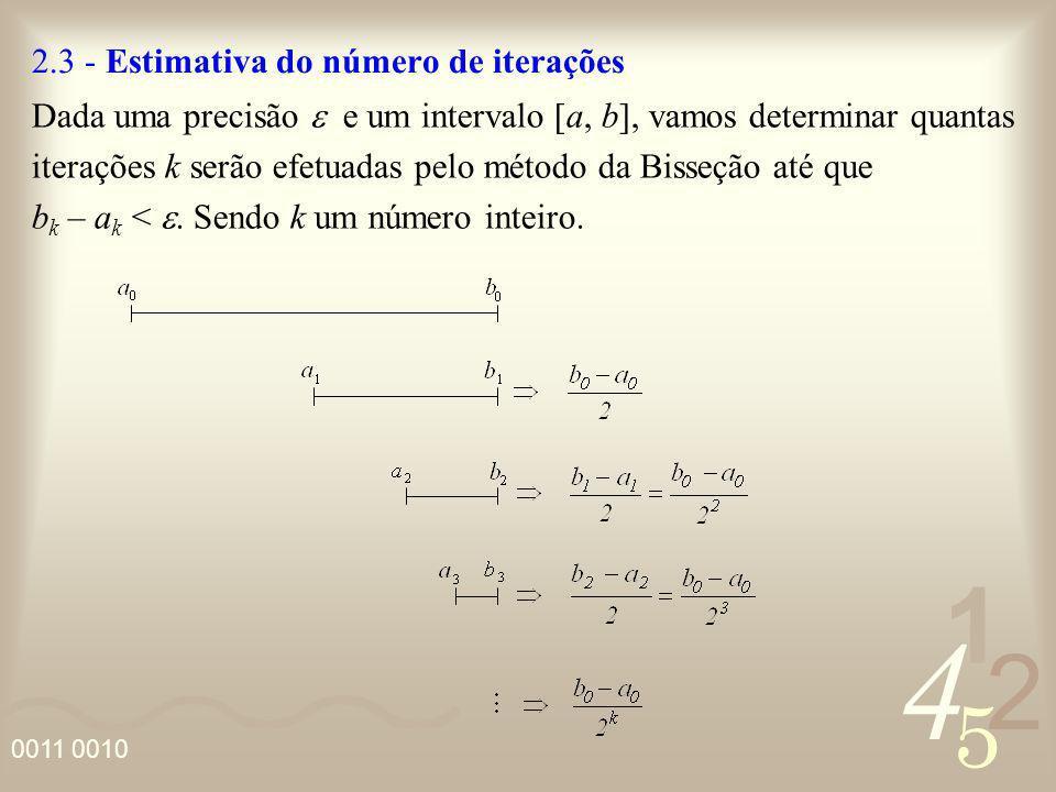 2.3 - Estimativa do número de iterações
