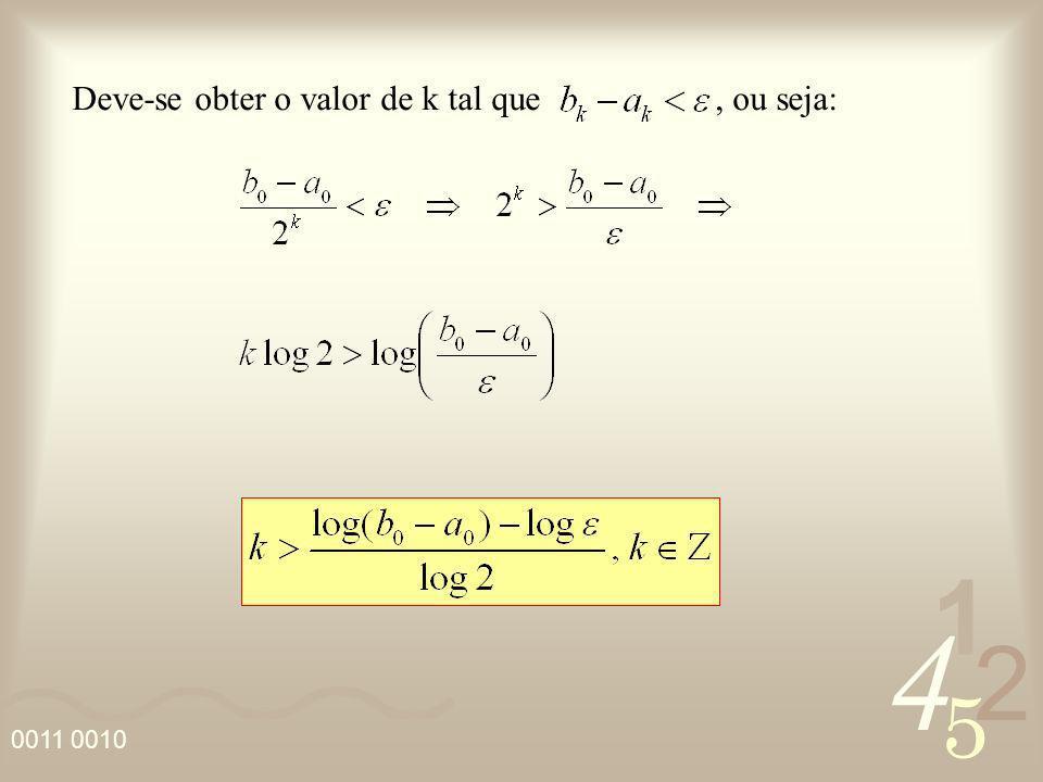 Deve-se obter o valor de k tal que , ou seja: