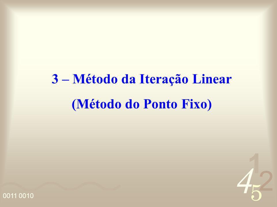 3 – Método da Iteração Linear