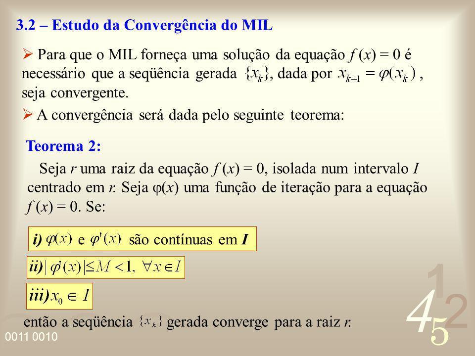 3.2 – Estudo da Convergência do MIL