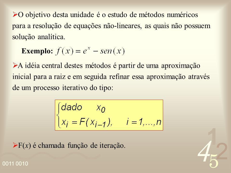 O objetivo desta unidade é o estudo de métodos numéricos