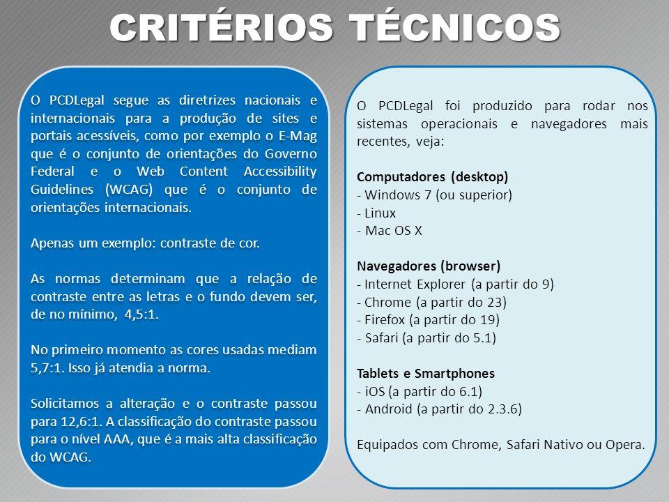 CRITÉRIOS TÉCNICOS
