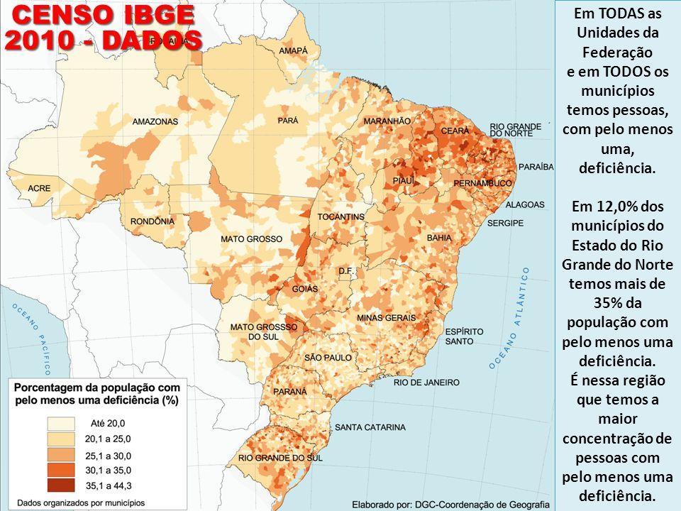 CENSO IBGE 2010 - DADOS Em TODAS as Unidades da Federação