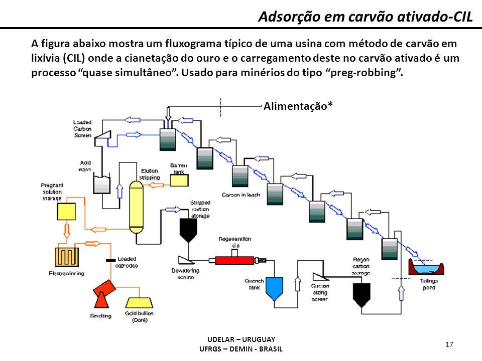 Adsorção em carvão ativado-CIL