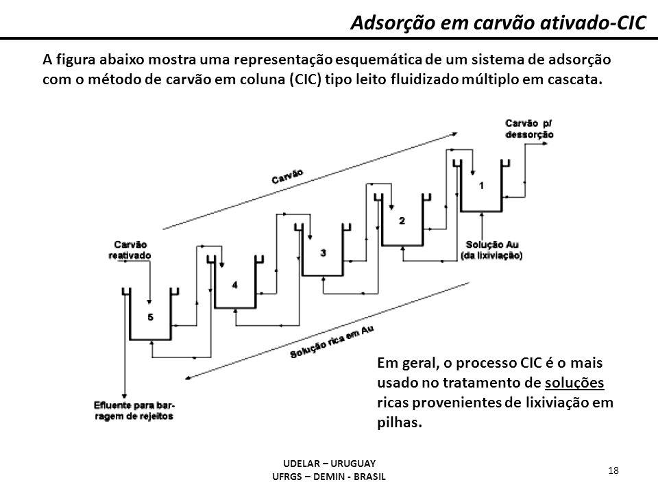 Adsorção em carvão ativado-CIC