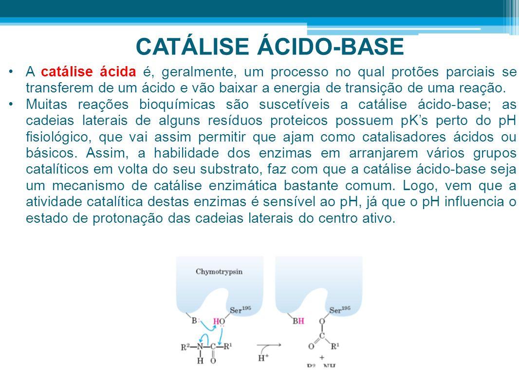CATÁLISE ÁCIDO-BASE