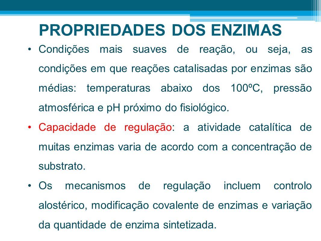 PROPRIEDADES DOS ENZIMAS