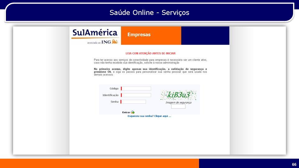 Saúde Online - Serviços