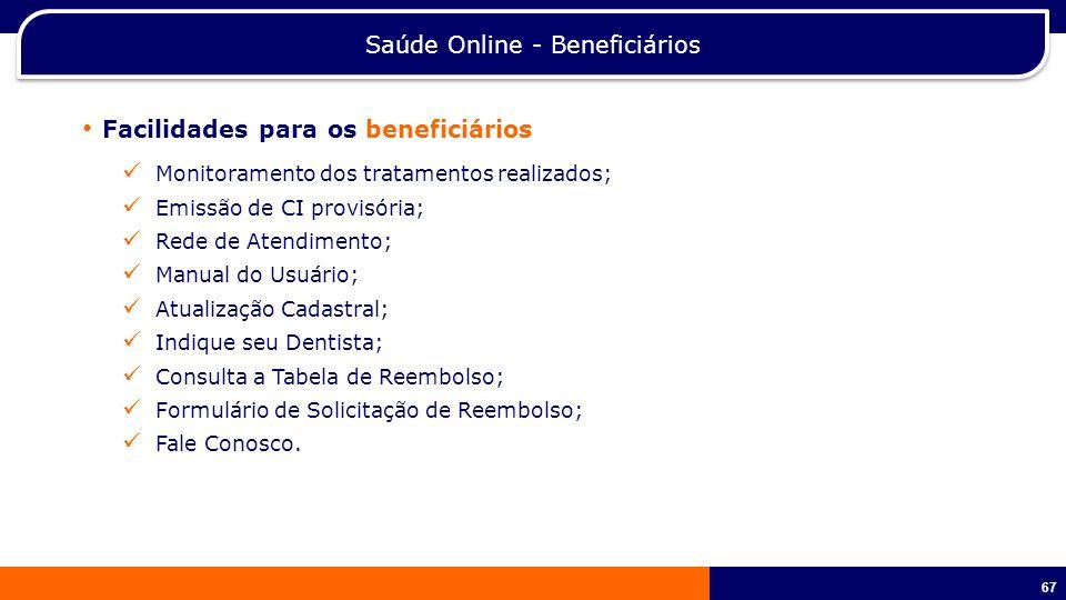 Saúde Online - Beneficiários