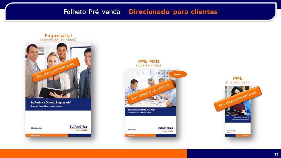 Folheto Pré-venda – Direcionado para clientes