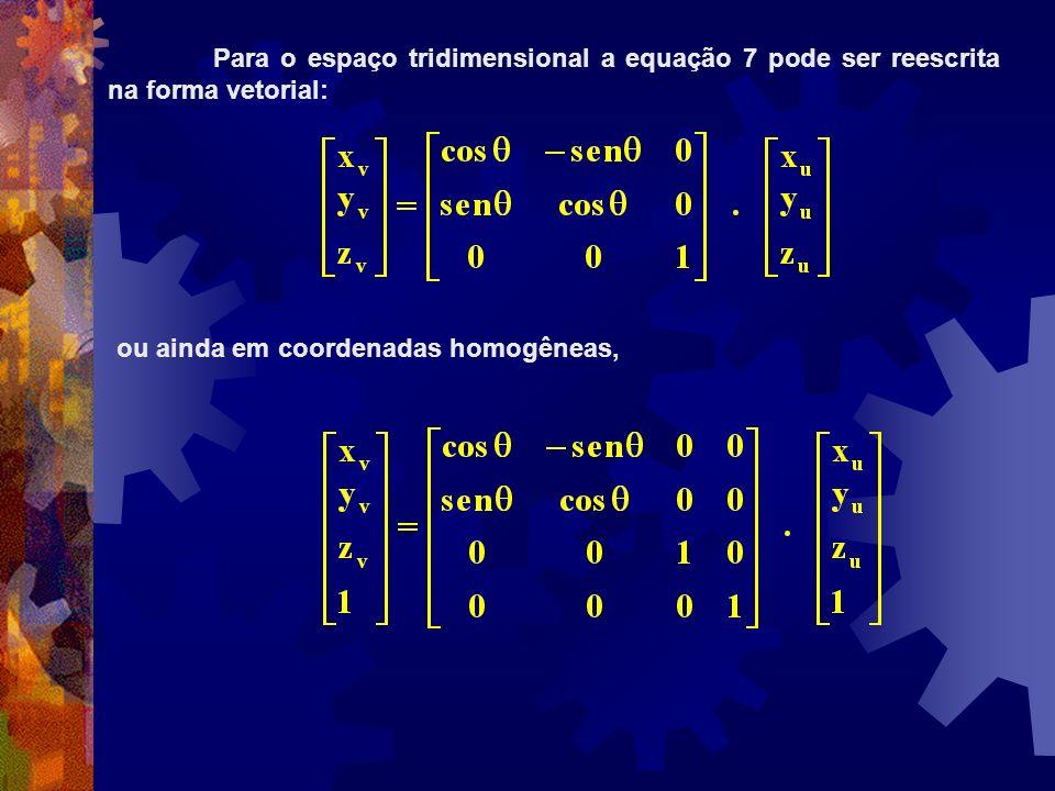 Para o espaço tridimensional a equação 7 pode ser reescrita na forma vetorial: