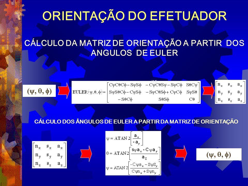 CÁLCULO DOS ÂNGULOS DE EULER A PARTIR DA MATRIZ DE ORIENTAÇÃO